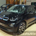 2016 BMW i3 in Fluid Black front three quarters at IAA 2015