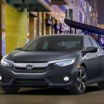 2016 Honda Civic Sedan front quarter unveiled