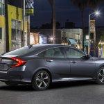 2016 Honda Civic Sedan rear three quarter unveiled