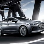 2016 Hyundai Elantra front quarter press shots