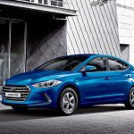 2016 Hyundai Elantra front three quarter press shots