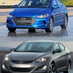 2016 Hyundai Elantra vs older model front fascia