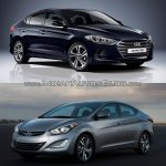 2016 Hyundai Elantra vs older model front