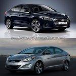2016 Hyundai Elantra vs older model front