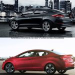 2016 Hyundai Elantra vs older model rear quarter