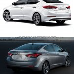 2016 Hyundai Elantra vs older model rear