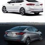 2016 Hyundai Elantra vs older model rear