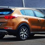 2016 Kia Sportage rear quarter press shots