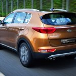 2016 Kia Sportage rear three quarters (Korea spec)