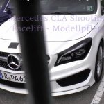 2016 Mercedes CLA (facelift) front spied with minimum camouflage