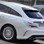 2016 Mercedes CLA (facelift) rear spied with minimum camouflage