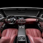2016 Mercedes S Class Cabriolet dashboard unveiled