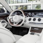 2016 Mercedes S Class Cabriolet driver area unveiled