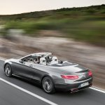 2016 Mercedes S Class Cabriolet rear top view unveiled