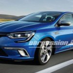 2016 Renault Megane front three quarter leaked