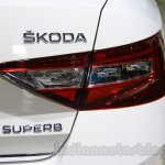 2016 Skoda Superb taillight at the 2015 Chengdu Motor Show
