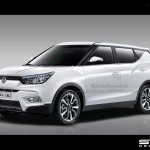 2016 Ssangyong Tivolo XL front three quarter IAB rendering