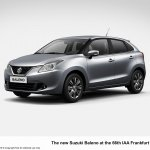 2016 Suzuki Baleno front three quarter unveiled ahead of debut