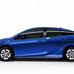 2016 Toyota Prius Blue side profile North American specification official image