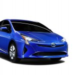 2016 Toyota Prius blue body colour North American specification official image