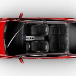 2016 Toyota Prius cabin top view North American specification official image
