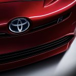 2016 Toyota Prius grille and bumper North American specification official image
