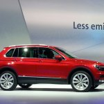 2016 VW Tiguan side at the Volkswagen Group Night 2015 in Frankfurt