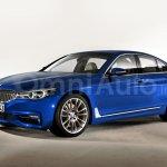 2017 BMW 5 Series side rendering