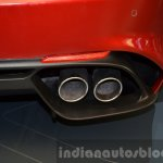 Alfa Romeo Giulia dual exhaust tips at the IAA 2015