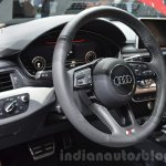 Audi SQ5 TDI Plus steering wheel and instrument cluster at IAA 2015