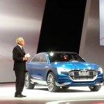 Audi Q6 e-tron front quarter