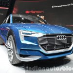 Audi e-tron quattro concept front quarter at the IAA 2015