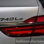 BMW 740Le plug-in hybrid badge at IAA 2015