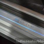 BMW 740Le plug-in hybrid door sill at IAA 2015