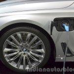 BMW 740Le plug-in hybrid plug and socket at IAA 2015