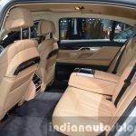 BMW 740Le plug-in hybrid rear seat at IAA 2015