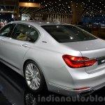 BMW 740Le plug-in hybrid rear three quarters left at IAA 2015