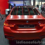 BMW M4 in Frozen Red metallic rear at iAA 2015