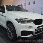 BMW X6 with M Performance Parts front three quarters at IAA 2015