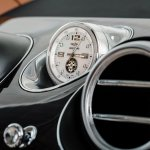 Bentley Bentayga clock press shots