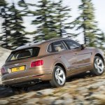 Bentley Bentayga rear quarter press shots