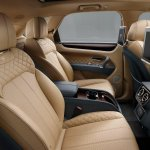 Bentley Bentayga rear seats press shots