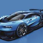Bugatti Vision Gran Turismo front three quarter unveiled
