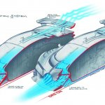 Cross section sketch of the Bugatti Vision GT (official image)