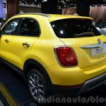 Fiat 500X Cross Plus yellow rear three quarter at the IAA 2015