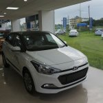Front three quarter of Hyundai Elite i20 Celebration Edition