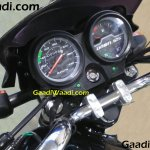 Hero HF Dawn 125 instrument cluster test mule spotted with minimum camouflage