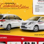 Honda Amaze Celebration Edition and Honda Mobilio Celebration Edition