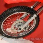 Honda XR 150L front wheel at Nepal Auto Show 2015
