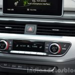 India-bound 2016 Audi A4 HVAC controls at the IAA 2015